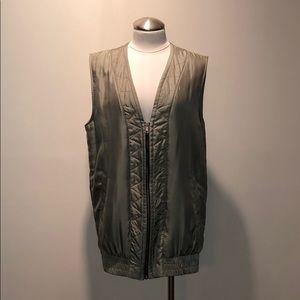 Rag & Bone Khaki Silk Vest
